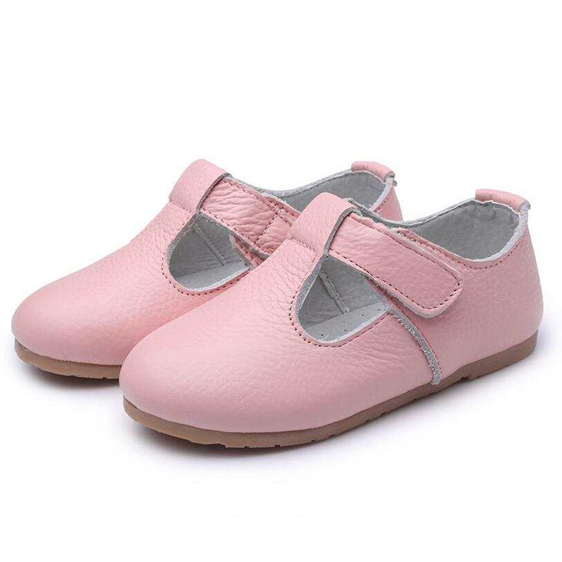 Genuine Leather Girls shoes Fashion Sneakers 2016 Spring Children Shoes Cute for Kids Brand Girls Boys