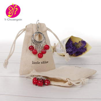 jewelry organic cotton draw string pouch bag cotton drawstring pouch