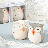 Ceramic owl shape useful wedding baby gift set gift craft