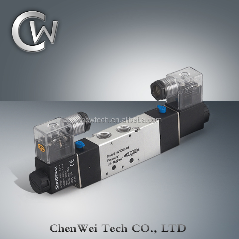 Airtac Type Pneumatic Solenoid Vave/directional Control Valve ...