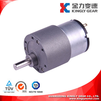 37mmtotally enclosed 12v dc gear motor for robots ce rohs for 12 volt dc gear motor