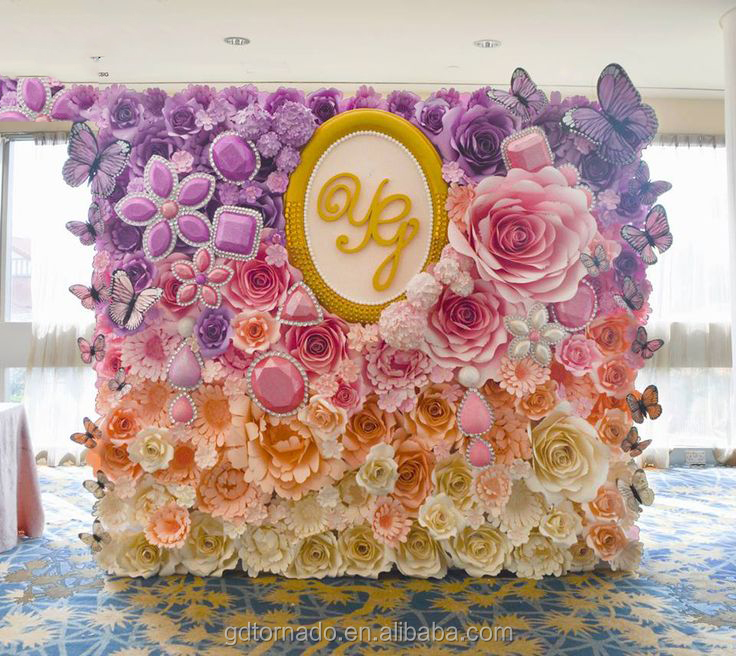 Large Paper Flowers Backdrop Giant Flower Wedding Decor