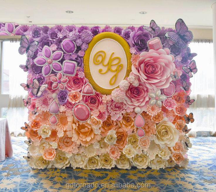 Large Paper Flowers Backdrop Giant Flower Wedding Decor