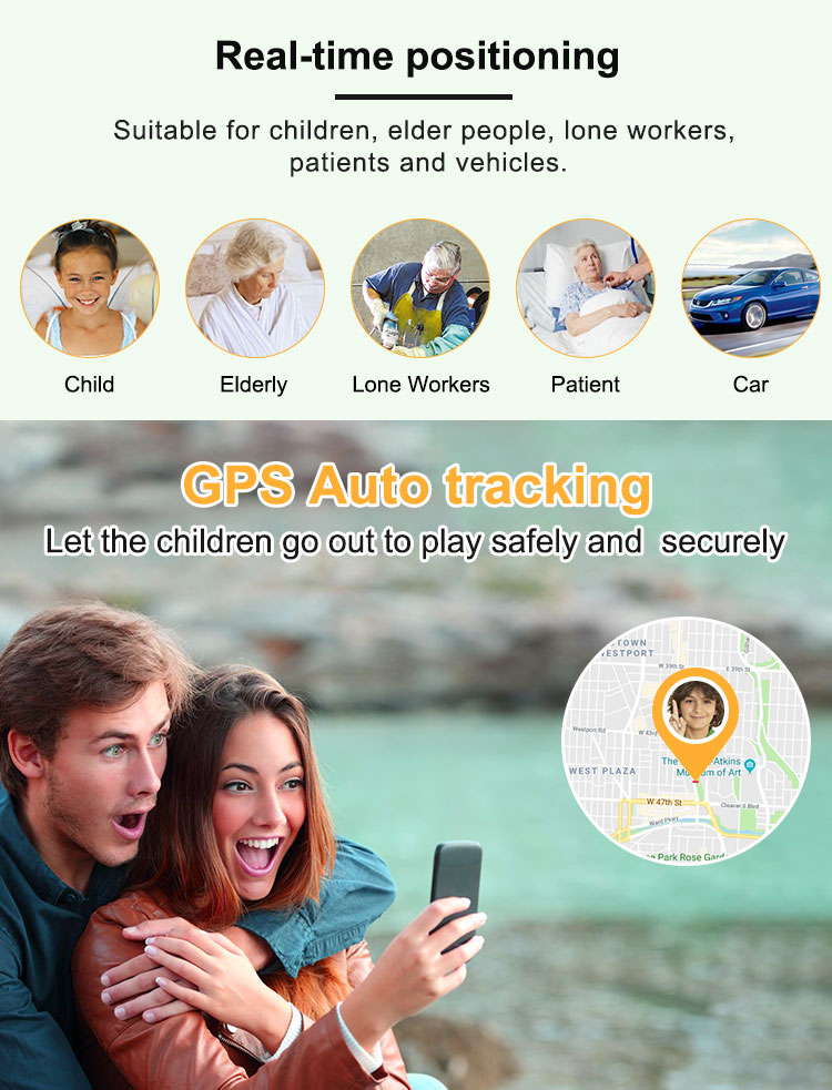 Acompanhamento de Idosos SOS Emergência Chamando 4G Mini Dispositivo de Rastreamento GPS