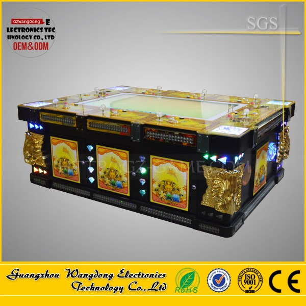 Electronic fishing video game consoles sea fishing game machine/ocean king 2 fish vending machine
