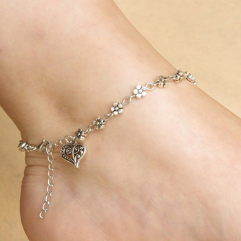 for home pair rhinestone anklet anklets jewellery golden charm product floral women diamond