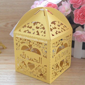 Paper Wedding Souvenirs Laser Cut Wedding Favors Gifts Candy Box