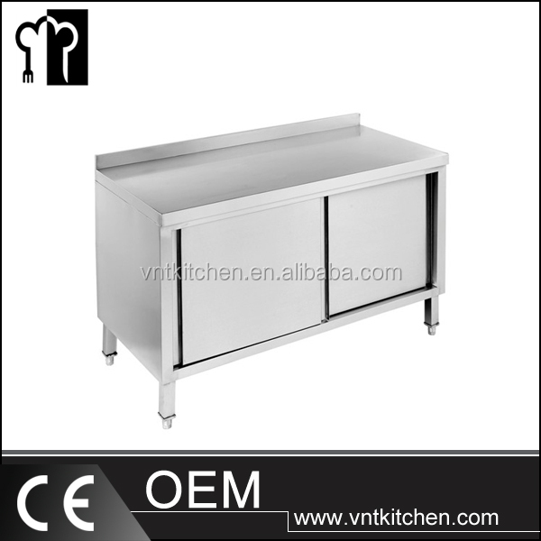 VNTS030 Stainless Steel Kichen Work Table for Kitchen Food Material/SS Work Table