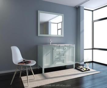 Moderne eiken hout kleine badkamer wastafelmeubel gebruikt