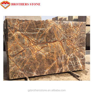 Polished Marble Rainforest Brown Picasso Brown Marble Tiles & Slabs