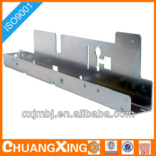 OEM Zinc plated metal chassis irregular shape sheet metal highly precise punching folding fabricating with top quality ISO 9001