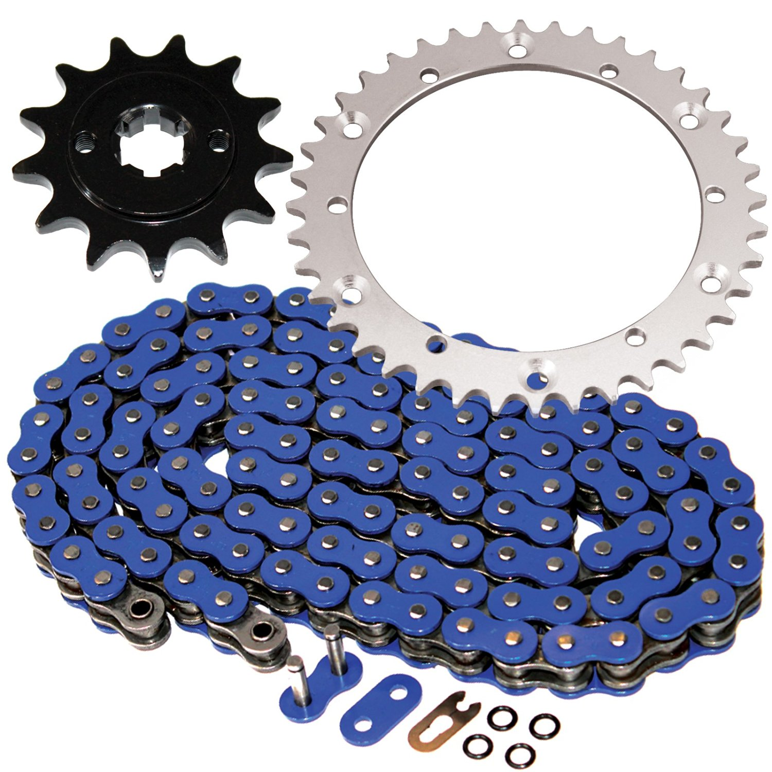 Yamaha Blaster 200 Blue O-Ring Chain and Sprocket Set 1988-2006