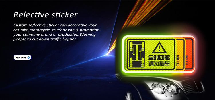 high quality custom 3 m reflective sticker paper sheets printing,reflective sticker