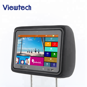 10.0 inch taxi advertising media player monitor headrest digital video player