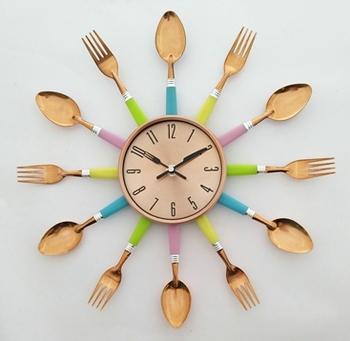 Premier Housewares Besteck Wanduhr Für Küche Cafe Dekoration - Buy ...