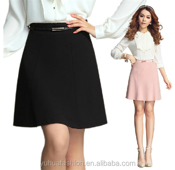 Korean female half-length chiffon skirt,elegant skirt suits for office ladies