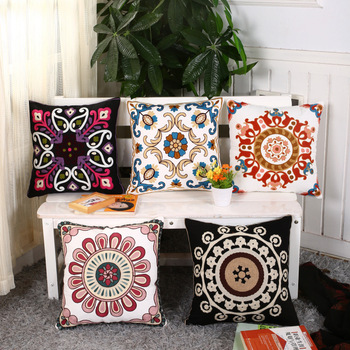 Cotton Cushion Coverpillow Cover Embroidery Designembroidery Bed