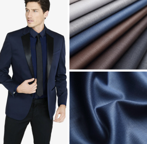 2018 New design good quality man and ladies italian suit shiny fabric