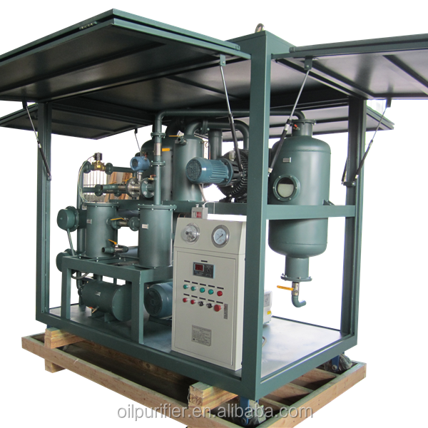 12 Years Alibaba Gold Supplier Zhongneng ZYD Double Stage High Vacuum Aged Transformer Oil Purification Plant