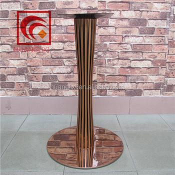Black Stainless Steel Dining Table Legs