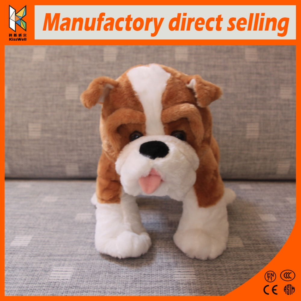 China Manufacture High Quality Stuffed Animal Dolls Realistic Plush Toy Dogs