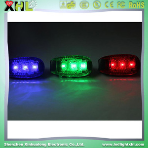 night security lamp portable mini safety lamp Portable LED Helmet Warning Light