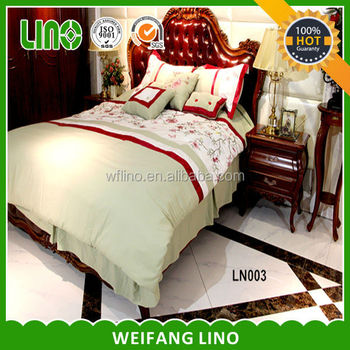 Microfiber Sheets Machine Embroidery Bed For