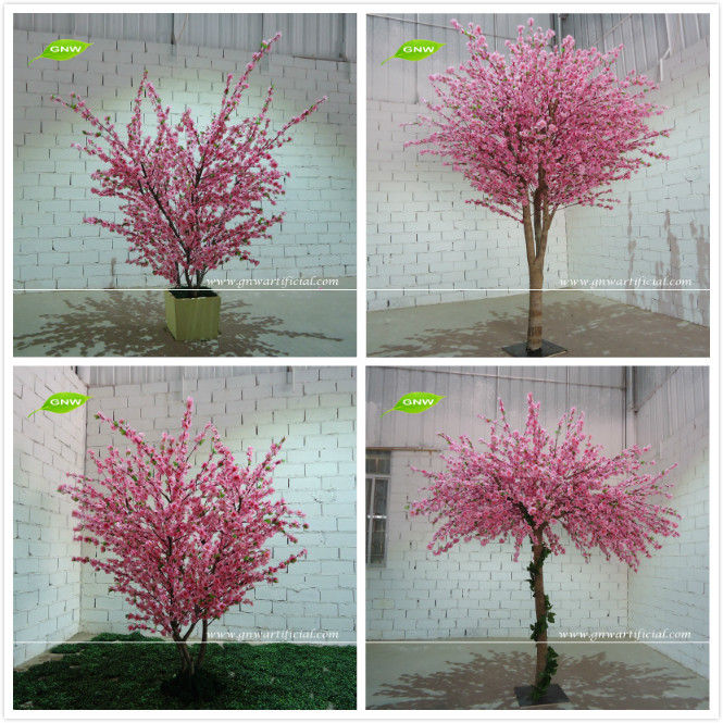 GNW 7ft pink indoor decorative plastic cherry blossom tree with ...