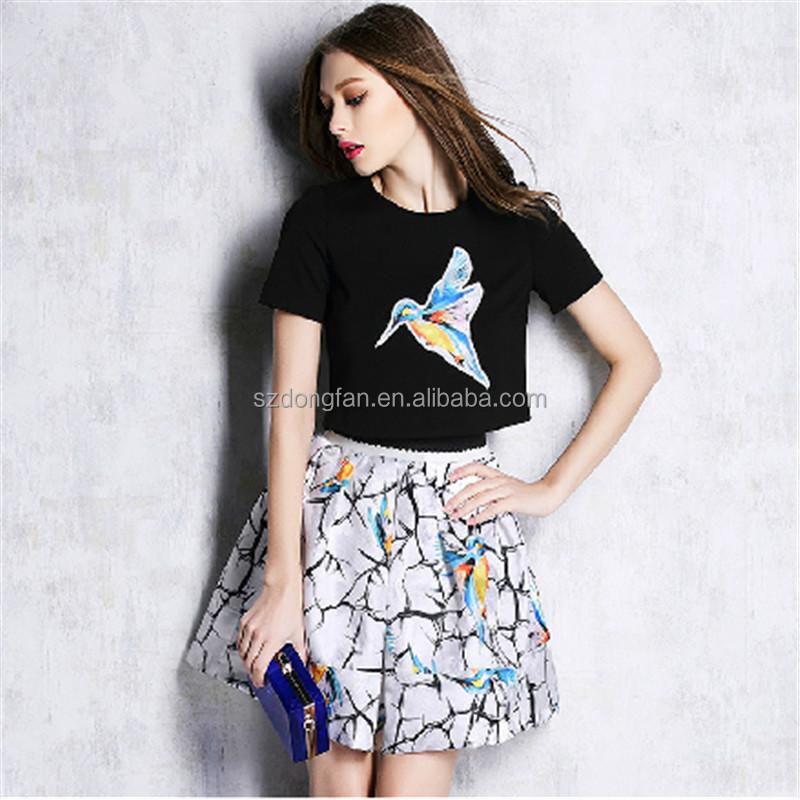 Models Skirt And Blouse Sets With T Shirt Women In Short Skirt Pics Custom Garment Buy T Shirt Models Skirt And Blouse Sets Women In Short Skirt