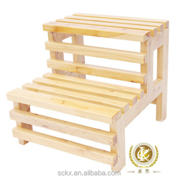 KX Bathtub Ladder Wood Chair Step Stool