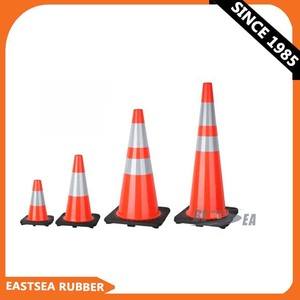 High Quality Traffic Cone With Reflective Cone Sleeve as Road Traffic Sign