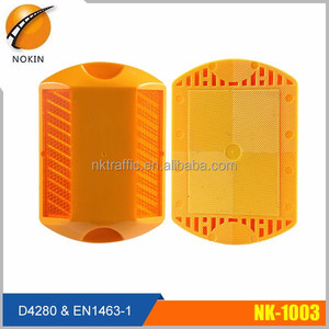 Highway nk-1003 Plastic Reflector LED reflective flashing waterproof solar stainless steel road stud