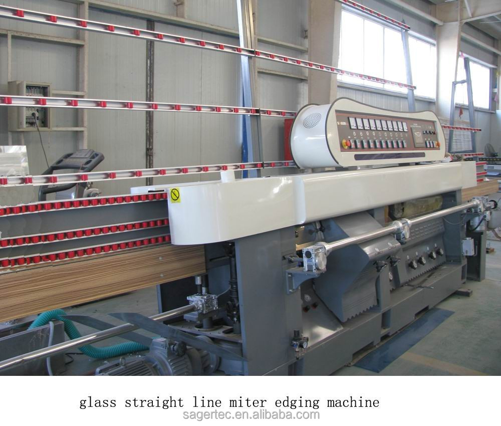 hot sale and high quality automatic glass straight line miter edging machine from SAGERTEC