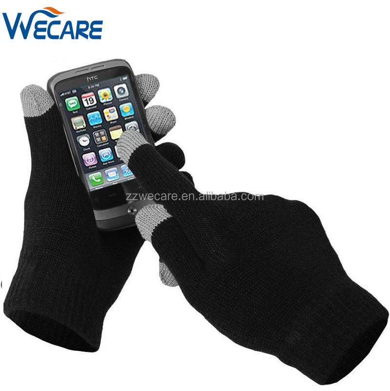 Christmas Promotion Sales Black Knit Smartphone Capacitive Texting Touch Screen Gloves