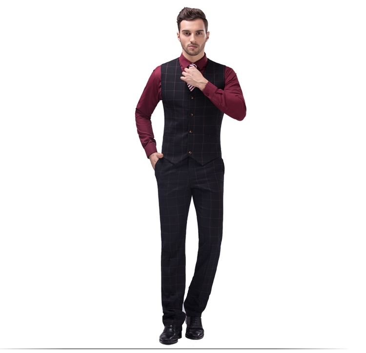 Fashion (jacket+pants+vest) Men Suits Man Business Formal Suit ...