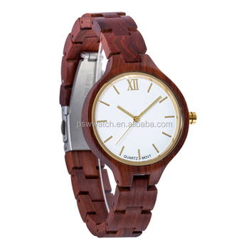 2019 OEM Custom Anniversary Gift Engraved Wooden Women Watch Wristwatches Natural Sandal Customized Wood Watch