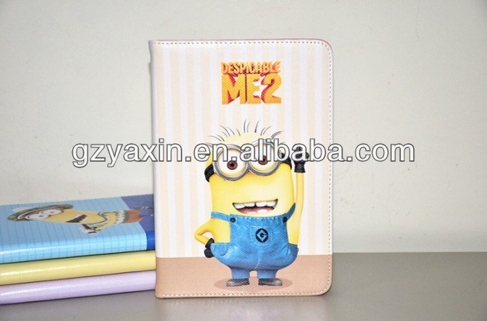 despicable me 2 minions wallet leather case,leather case for apple ipad 2 3 4