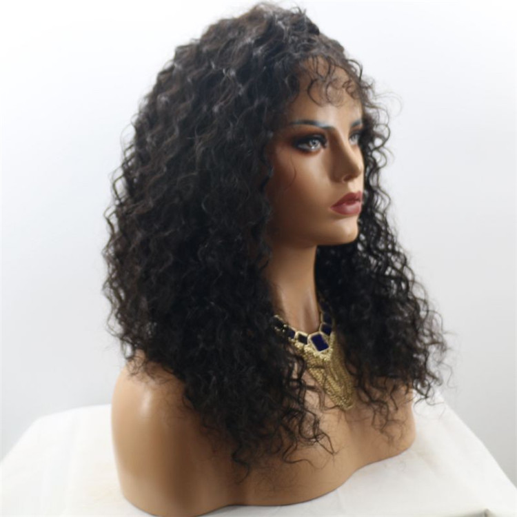 Long Curly <strong>Wig</strong> Heat Resistant Fiber Front Lace <strong>Wig</strong> 1B Color <strong>Synthetic</strong> <strong>Wig</strong> for Black Women