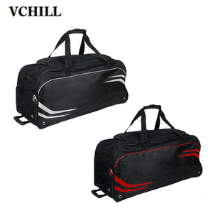 Durable Polyester Trolley Wheeled Ice Hockey Bag