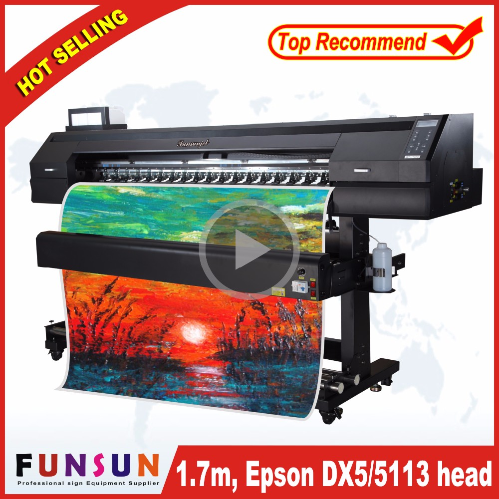 best price Funsunjet FS1700K 6ft used sublimation printers with dx5 head 1440dpi