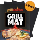 Over Larger BBQ Grill Mat( Set Of 3) Heavy Duty Non Stick BBQ And Grilling Sheet Best Barbecue Accessories Charcoal Grills