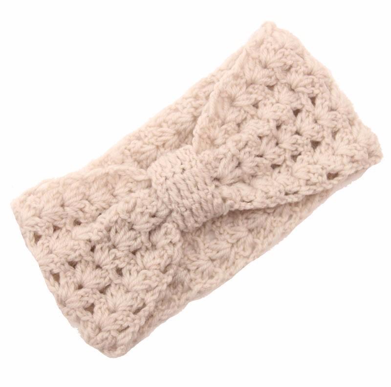 Volwassen Winter Fleece Haak Knit Hoofdbanden Gevlochten Hoofdband