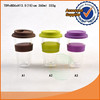 12.5oz hot selling double wall glass cup with silicone lid and sleeve
