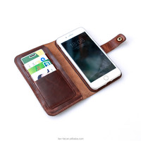 Durable Genuine Leather Cell Phone Case Card Holder