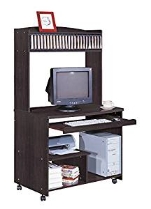 Smart home Liam Desktop Tower Computer Desk (Large, Red Cocoa)