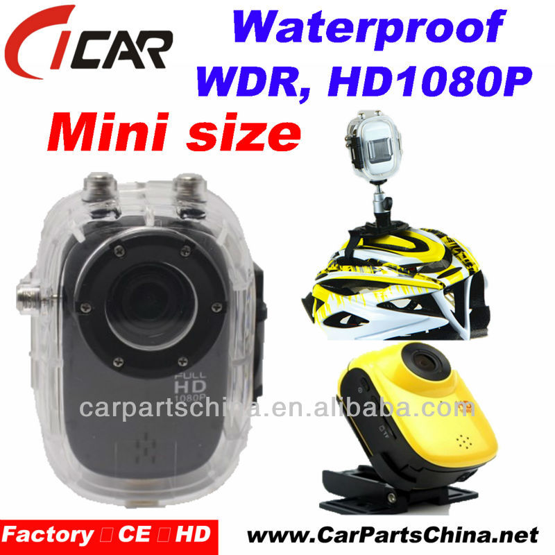 1080P Full HD Waterproof Mini Action Camera WDR H.264 Detachable battery sport Car Camera