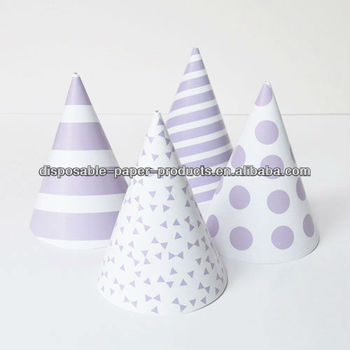 princess cone hat template - girls princess pastel paper party cone hats caps lilac