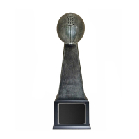 Antique Silver Resin Fantasy Football Trophy