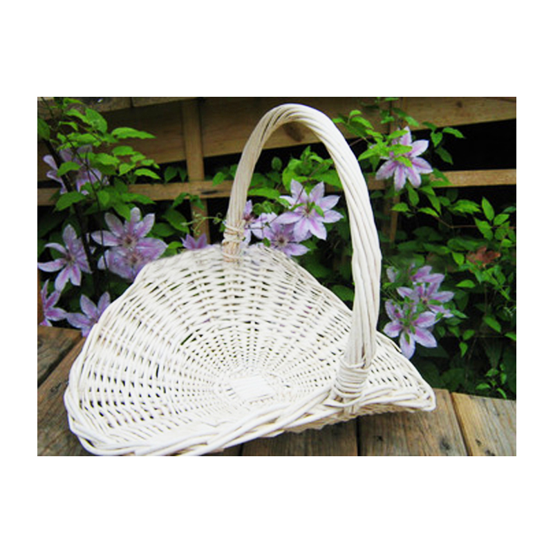 wholesale white wicker flower gathering basket