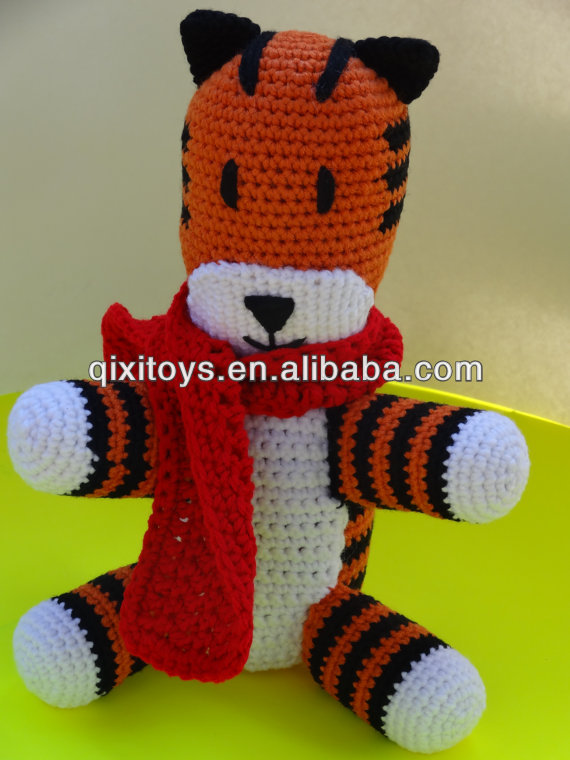 Crochet stuffed tiger plush dolls custom plush dolls